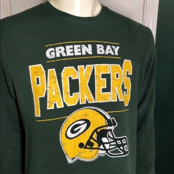 Men s thermal Green Bay Packers shirt Size XL. M 5b8b3fa3dcfb5a7518cf14ed ca5812358